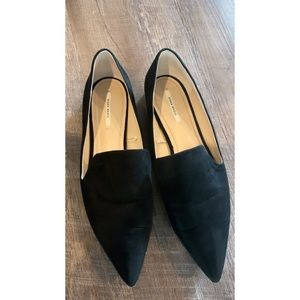 Zara flats/loafers in suede in size 40